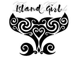 Island Girl Car Decals Island Girl Whale Tail Car Decal Etsy