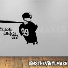 Baseball Decal Mike Trout Decal Boys Bedroom Baseball Etsy