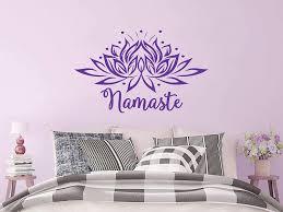 Amazon Com Wall Decal Vinyl Sticker Decals Mandala Namaste Lotus Flower Indian Lotus Yoga Wall Stickers Home Decor Art Bedroom Design Interior Wall Decor Mural C363 Home Kitchen
