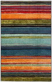 rainbow striped printed area rug