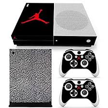 Amazon Com Xbox One S Whole Body Vinyl Skin Sticker Decal Cover For Console And Controllers Jordan Black Cement Video Games
