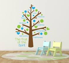 Fruit Of The Spirit Vinyl Wall Decal Sticker Tree Baby Etsy