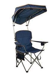 folding portable chair with sun shade