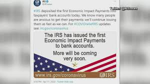 IRS deposits first wave of stimulus ...