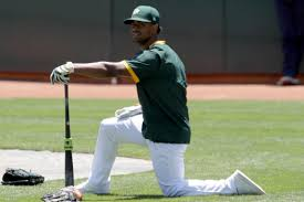 Pressure off and healthy, Khris Davis is ready to return to his ...