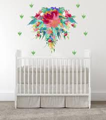 Amazon Com Baby Girl Nursery Wall Decals Baby Girl Room Nursery Decals Flowers Room Wall Stickers Bloom Wall Art Baby Room Decal Modern Decals Handmade