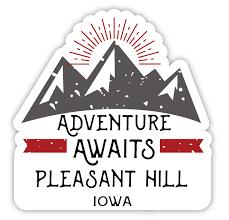 Pleasant Hill Iowa Souvenir 4 Inch Vinyl Decal Sticker Adventure Awaits Design Walmart Com Walmart Com
