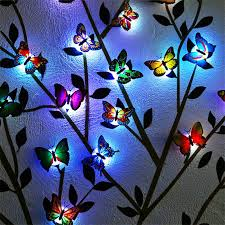12 Pcs Night Light Led Butterfly Wall Stickers Lights Removable Mural Crafts Art Design Decal Wall Colorful Light 3d Simulation Butterfly Luminous Wall Stickers House Kid Bedroom Decoration Walmart Com Walmart Com