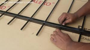 Aleko Dual Swing Diy Gate Assembly Time Lapse Youtube
