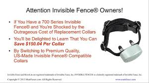 Invisible Fence Collar Save 50 On Compatible Replacement Collars For Invisible Fence 700 Series Youtube