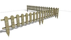 Small Wooden Fence Plotek Ogrodowy 3d Warehouse