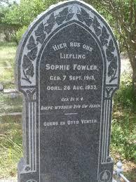Sophia Wilhelmina Fowler (1913 - 1933) - Genealogy