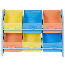 Shop Gymax Kid S Toy Storage Multi Color Organizer With 6 Bins For Kids Bedroom Playroom Overstock 22996224