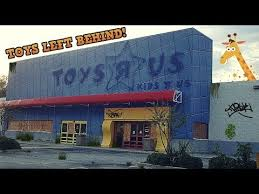 abandoned toys r us with toys left