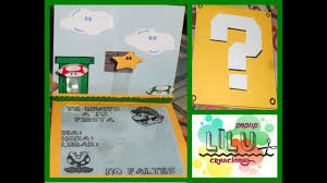 Invitacion Infantil Mario Bros Manualidad Youtube