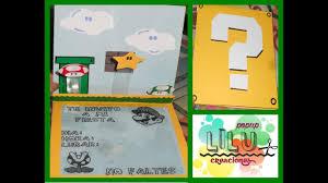 Invitacion Infantil Mario Bros Manualidad Youtube