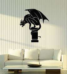 Amazon Com Vinyl Wall Decal Gargoyle Gothic Statue Room Decoration Home Art Stickers Mural Large Decor Ig5479 Home Kitchen