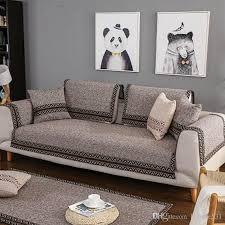 solid color plush thicken elastic sofa