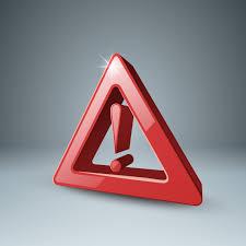 Attention d'icône 3d rouge, danger. - Telecharger Vectoriel ...