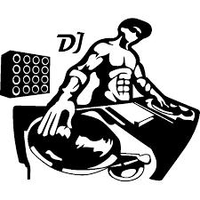 Wall Sticker Silhouette Muscled Dj Hip Hop Artwork Dj Art Dj