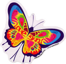 Love Butterfly Window Sticker Decal Peace Resource Project
