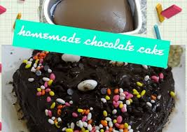 homemade eggless chocolate cake without