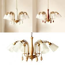 lights bucket shade chandelier vintage