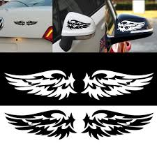 2pcs Lovely Angel Wings Reflective Car Stickers Fashion Vinyl Decal Car Rearview Mirror Logo Decoration Car Styling Stickers Car Stickers Aliexpress