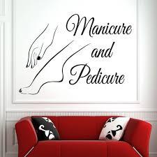 Vinyl Wall Window Decal Nail Art Polish Wall Sticker Beauty Salon Manicure Pedicure Wall Art Mural Nail Salon Decoration Wish