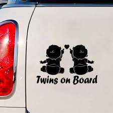 Car Vehicle Products Twins Baby On Board Car Sticker Decals For Automotive Vinyl Stickers For Cars Styling Auto Autocolantes Car Stickers Aliexpress