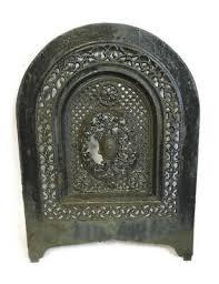 cast iron fireplace cover vent door