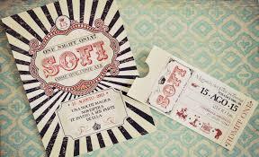 Una Invitacion De 15 Estilo Circo Vintage Tarjetas De 15