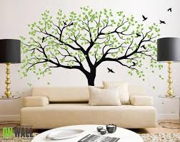 Large Tree Wall Decals Trees Decal Nursery Tree Wall Decals Etsy