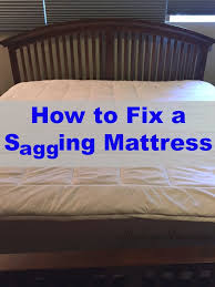 how to fix a sagging mattress on the