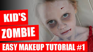 halloween makeup tutorial kids zombie