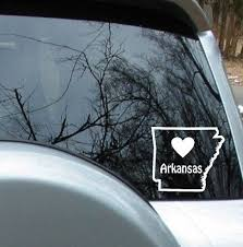 Love Arkansas State Sticker Car Decal By Maximumcreations On Etsy Car Decals Window Decals Car Stickers