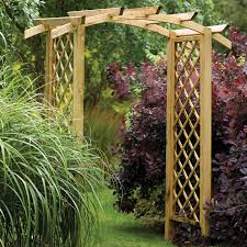 forest genoa wooden garden arch 6 x3