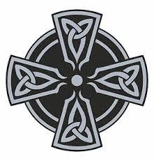 Celtic Grey Cross Vinyl Sticker Decal Religious Car Bumper Frudge Door Laptop Ebay