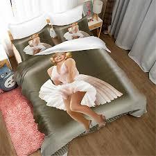 marilyn monroe bedding set 3pcs 3d