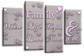 family e canvas wall art picture