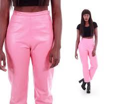 bubblegum pink leather pants