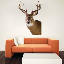 Deer Head Decal Design Wall Murals Primedecals
