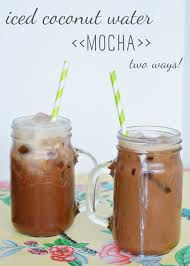 recipe iced coconut water mocha two