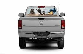 20x65in Dc03906 Truck Rear Window Decal Graphic Military Hot Lz