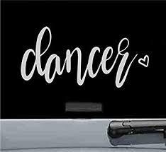 Amazon Com Js Artworks Dancer Heart Vinyl Decal Sticker Dance Dancing Shoes Shirt Silver Automotive