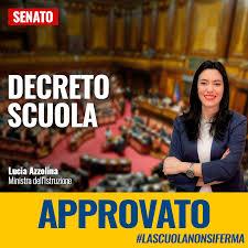 Decreto scuola: fiducia dal Governo, venerdì voto alla Camera ...