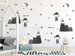 Kids Woodland For Boys Black Mountains Wall Decal Sticker Wall Decals Wallmur