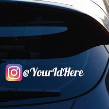 Custom Instagram Printed Die Cut Decal