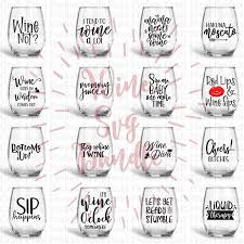 wine bundle svg wine svg wine sayings