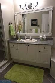 bathroom mirror frames kits bathroom